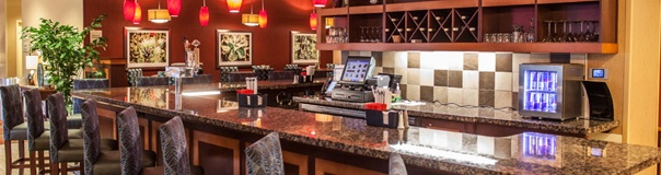 CMS custom hotel bar and lounge