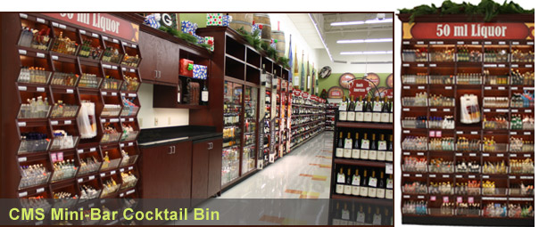 mini-bottle liquor cabinet