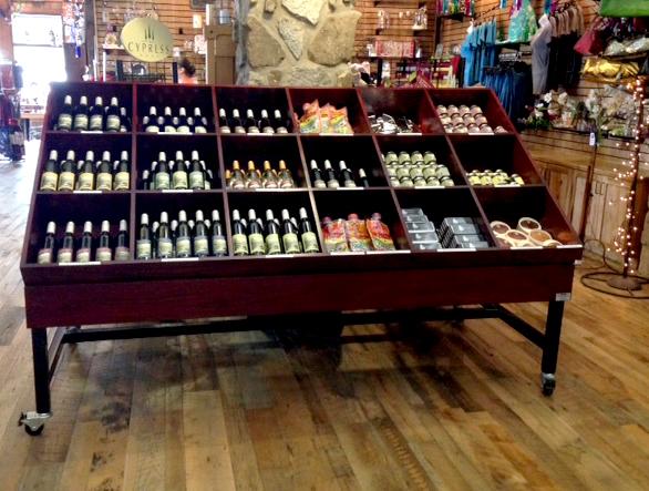 rolling wine merchandiser