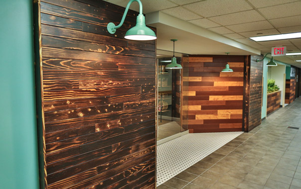 charred wood wall treatment