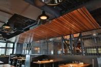 wood slat canopy