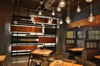 feature wall w/ steel & copper plates
