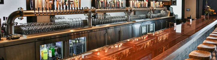 Bar Counter and Cabinets