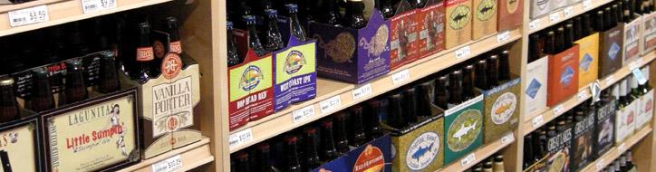 craft beer display shelving