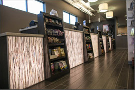 custom checkout area