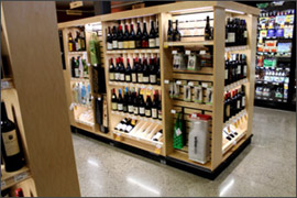 custom wine merchandiser