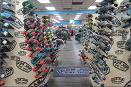 skateboard waterfall display